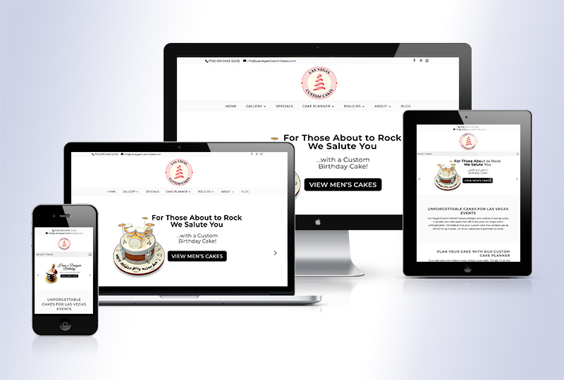 Las Vegas Custom Cakes Responsive WordPress Website
